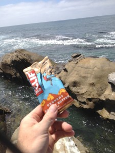Erik Nunn with a cliff bar